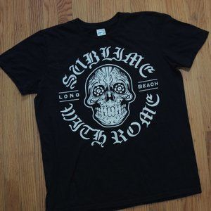 Sublime with Rome T shirt 2012 Black Long Beach
